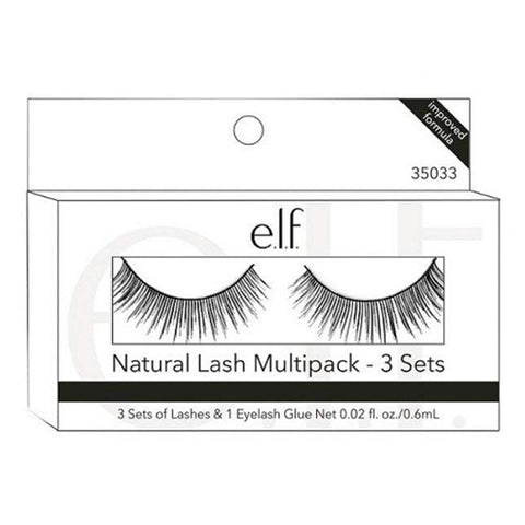 e.l.f. - Natural Lash Multipack with 3 Sets