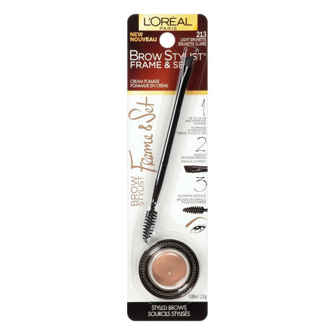 L'OREAL Brow Stylist Frame & Set Light Brunette