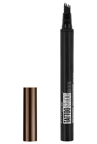 MAYBELLINE TattooStudio Brow Tint Pen Makeup Deep Brown