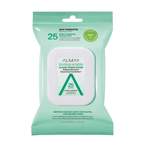 ALMAY - Biodegradable Clear Complexion Makeup Remover Cleansing Towelettes