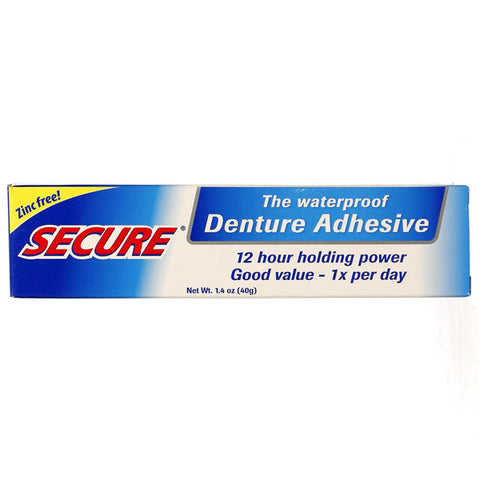 BIOFORCE OF AMERICA - Secure Denture Adhesive - 1.4 oz. (40 g)