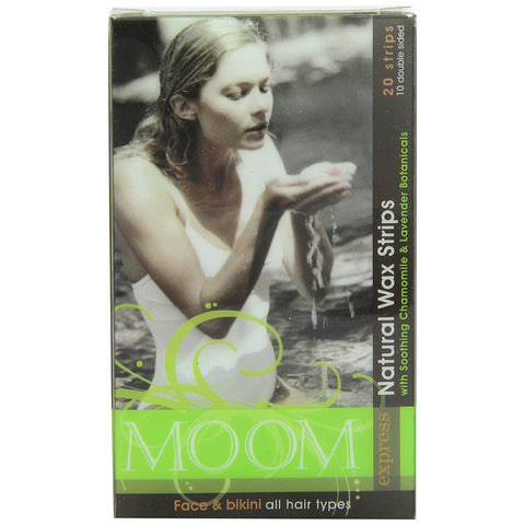 MOOM - Express Pre Waxed Strips for Face and Bikini