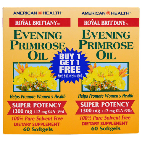 AMERICAN HEALTH - Royal Brittany Evening Primrose Oil Twin Pack 1,300 mg