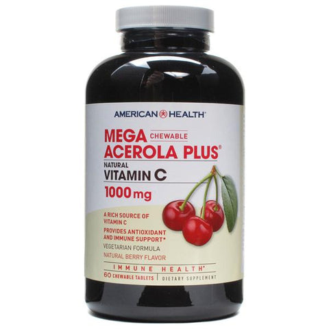 AMERICAN HEALTH - Mega Acerola Plus 1000 mg Natural Berry