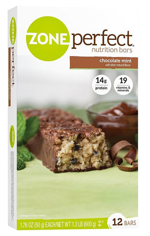 Zone Perfect Nutrition Bars Chocolate Mint
