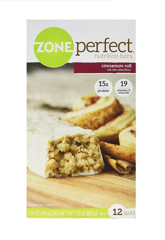 Zone Perfect Nutrition Bars Cinnamon Roll