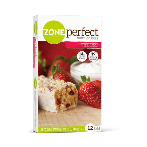 Zone Perfect All Natural Nutrition Bars Strawberry Yogurt