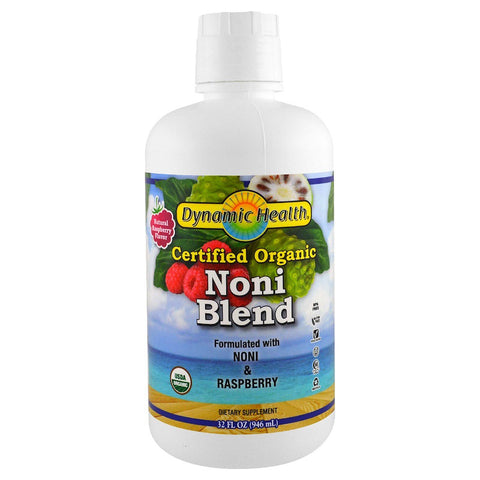 DYNAMIC HEALTH - Organic Certified Noni Juice Blend, Raspberry Flavor