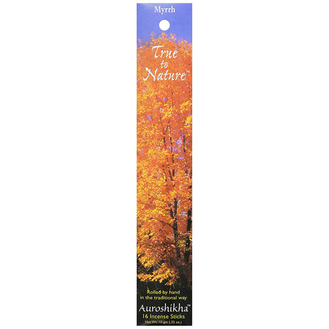 AUROSHIKHA - True To Nature Incense Myrrh Floral