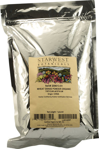 Starwest Botanicals Organic Wheatgrass Powder