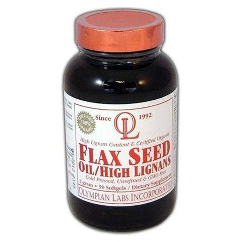 Olympian Labs Flax Seed Oil High Lignans 1000 mg