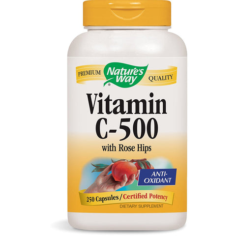 NATURES WAY - Vitamin C-500 with Rose Hips