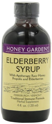 Honey Gardens Apiaries Apitherapy Honey Elderberry Extract with Propolis