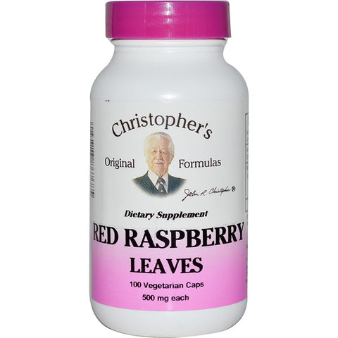 Christophers Original Formulas Red Raspberry Leaves 500 mg