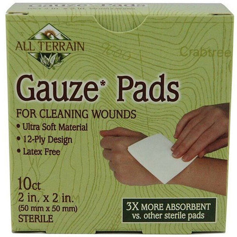 ALL TERRAIN - Latex Free Cotton Gauze Pads 2 in. x 2 in.