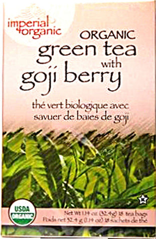 UNCLE LEE'S TEA - Imperial Organic Green Tea with Goji Berry