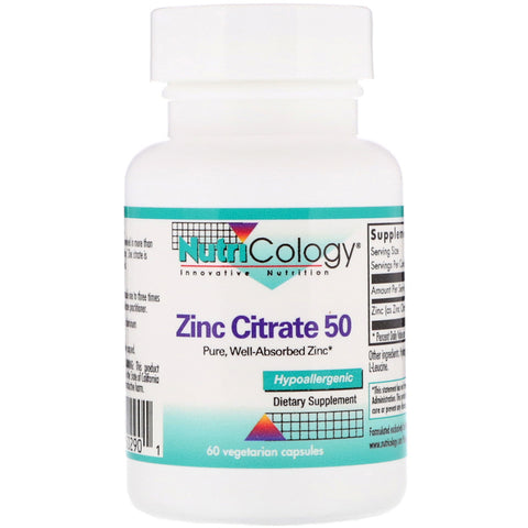 NUTRICOLOGY - Zinc Citrate 50 mg