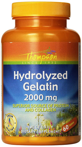 Thompson Nutritional Hydrolyzed Gelatin 2000 mg