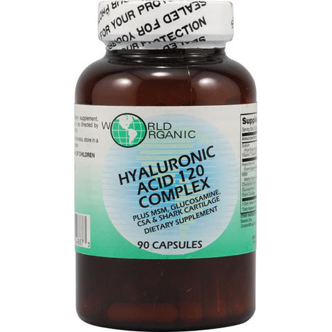 WORLD ORGANIC - Hyaluronic Acid 120 Complex
