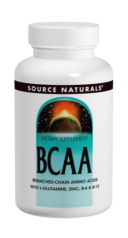 Source Naturals BCAA with L Glutamine Zinc B6 and B12