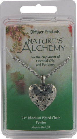 Natures Alchemy Heart Diffuser Pendant Necklaces