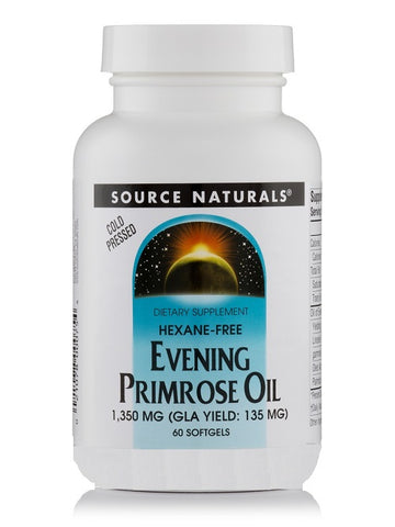 SOURCE NATURALS - Evening Primrose Oil 1350mg (135mg GLA) - 60 softgel
