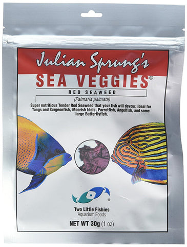 Two Little Fishies - Fish & Aquatic Supplies Sea Veg - Red Seaweed 1oz (Pouch)