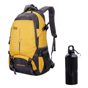 Nylon Travel & Adventure Backpack | FREE Premium Aluminum Water Bottle