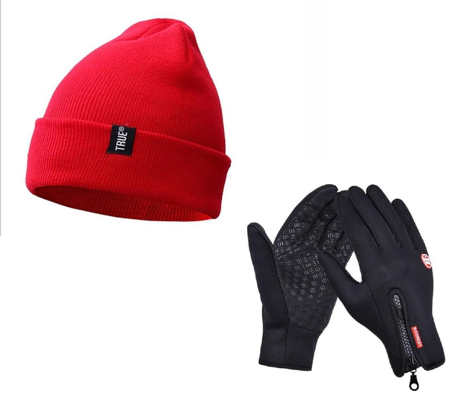 Winter Gnarly Beanie with FREE Waterproof Touch Screen Gloves