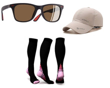 Runner's Kit - Polarized Glasses, Compression Socks & Sports Cap
