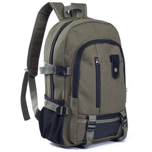 Classic Canvas Backpack with FREE Premium Water Bottle