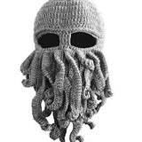 Octopus Knit Beanie Wind Mask