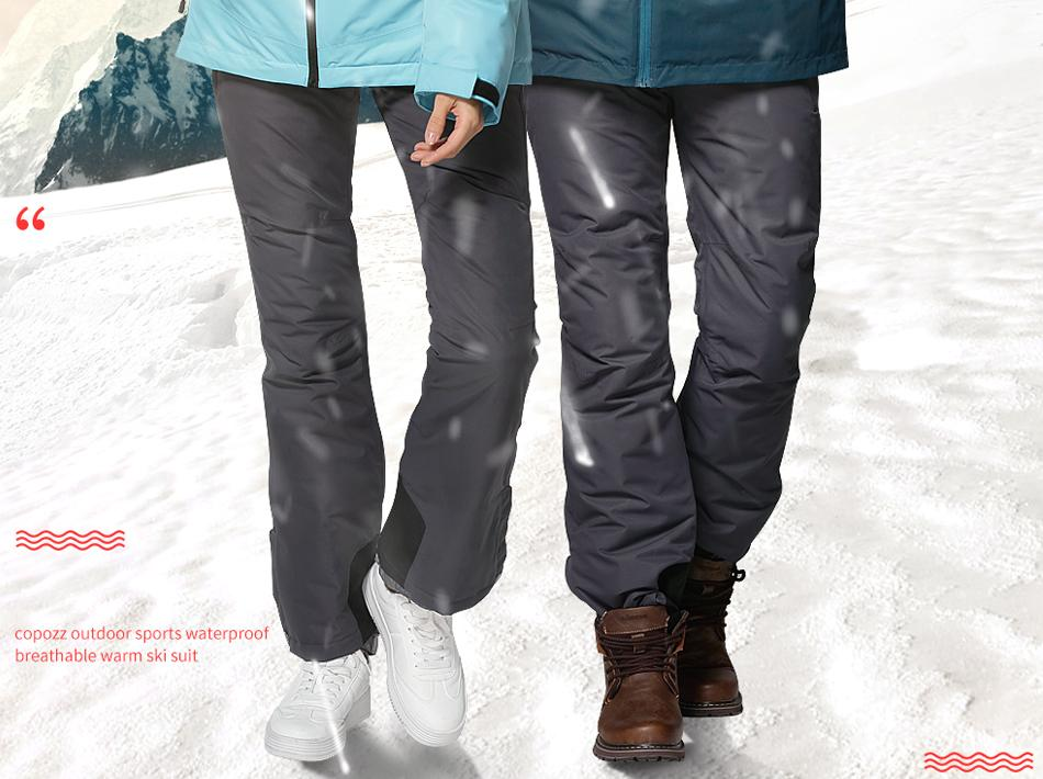 Classic Grey Ski Snowboard Pants for Men & Women