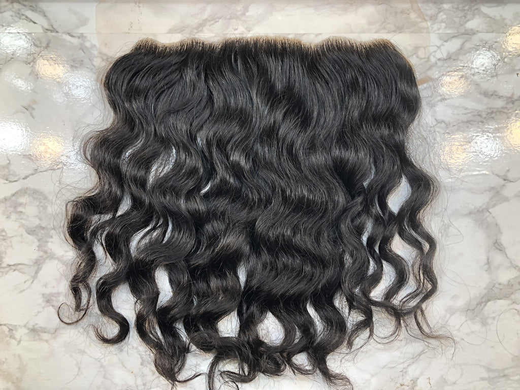 13x4 Raw Indian Waves & Curls Lace Frontal