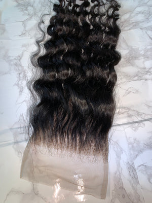 5x5 Raw Curly Lace Closure