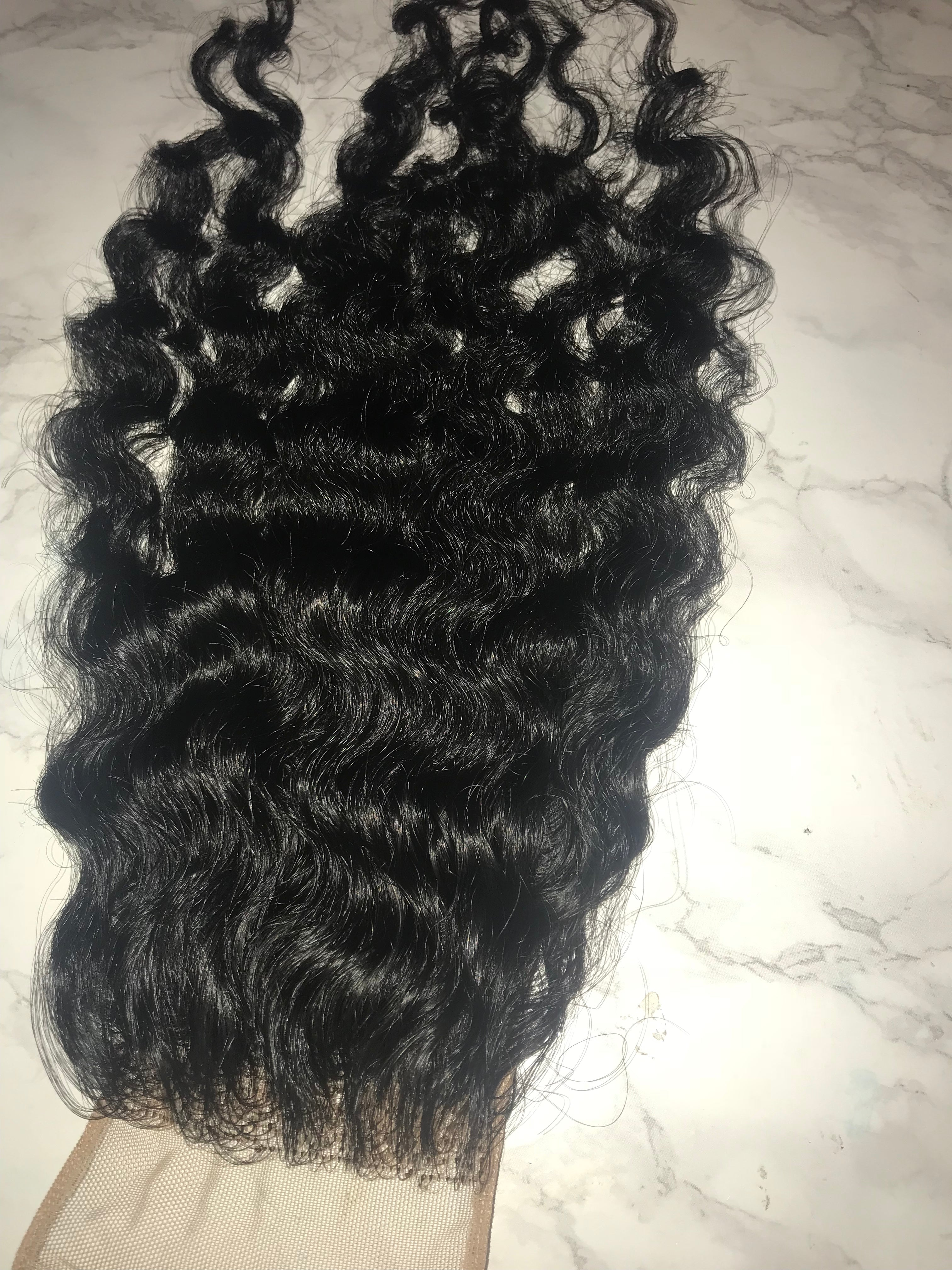 4x4 Raw Indian Lace Closure Raw Indian Curly
