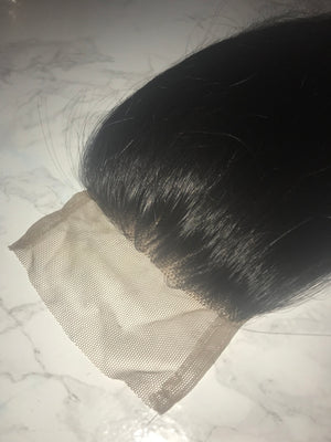4x4 Raw Indian Straight(ish) Lace Closure