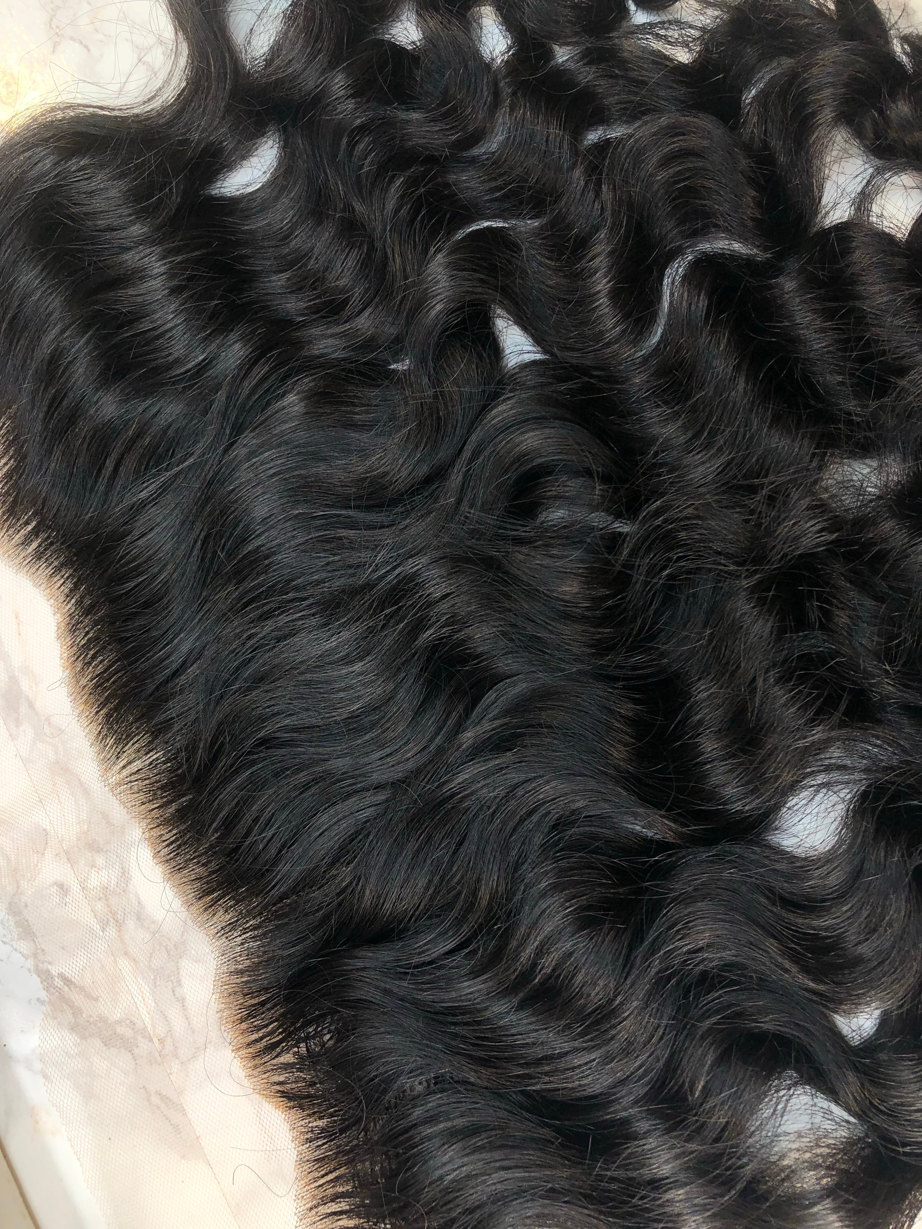 13x6 Raw Indian Waves & Curls Lace Frontal