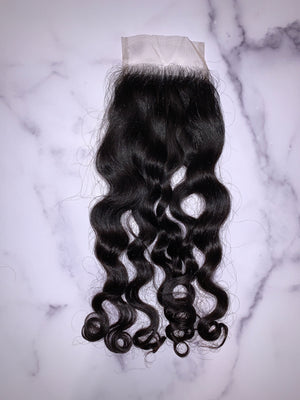 4x4 Deep Waves & Curls Swiss Lace Closure