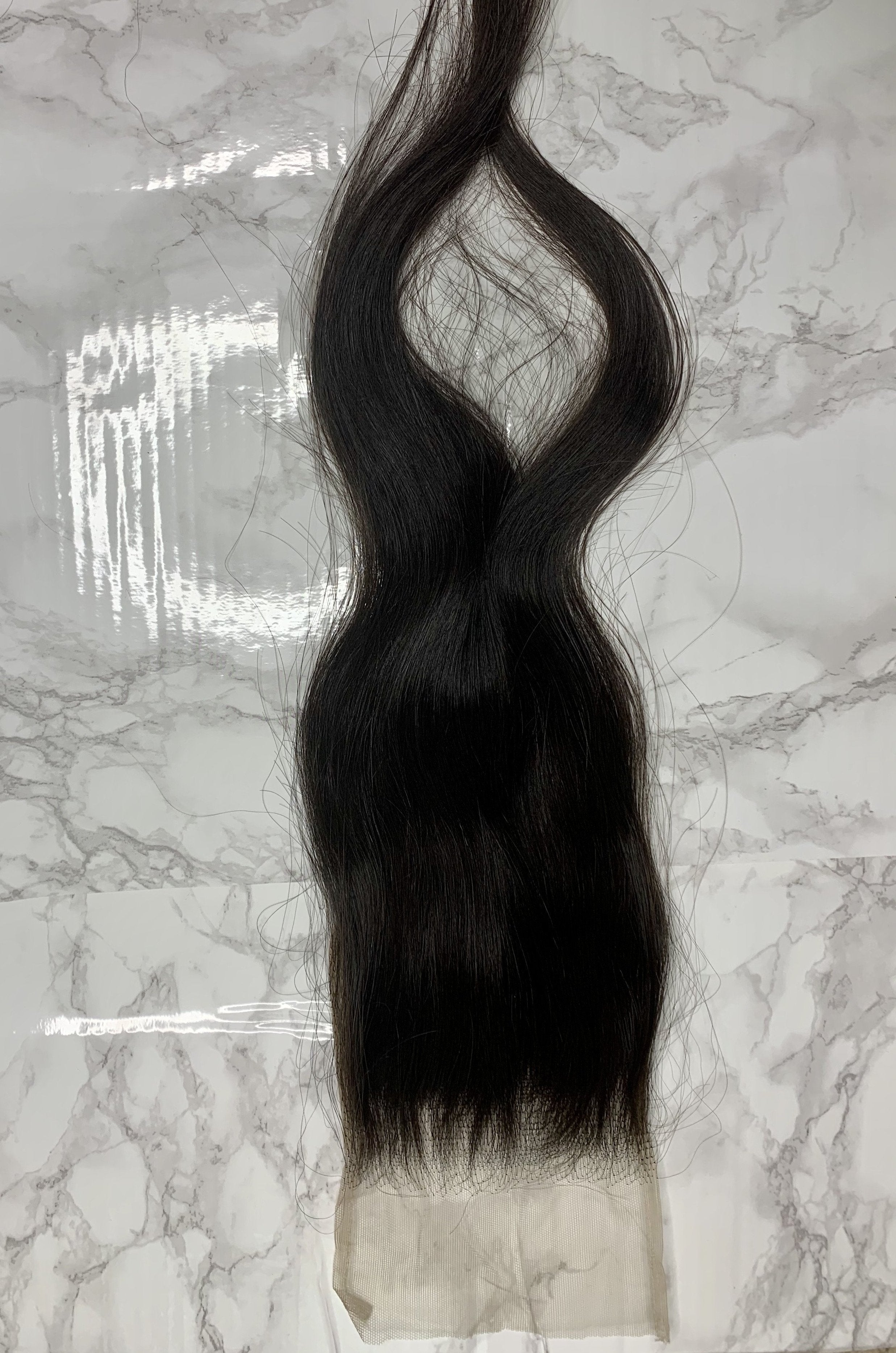 5x5 Raw Indian Straight(ish) Lace Closure