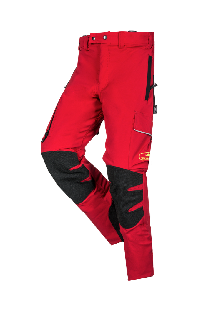 SIP Protection Arborist Chainsaw Pants Red/Black