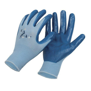 Ladies  Nitrile Dipped Work Glove
