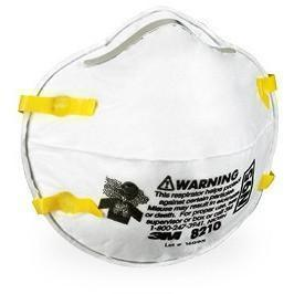 3M N95 Disposable Respirator, Model 8210. Box of 20