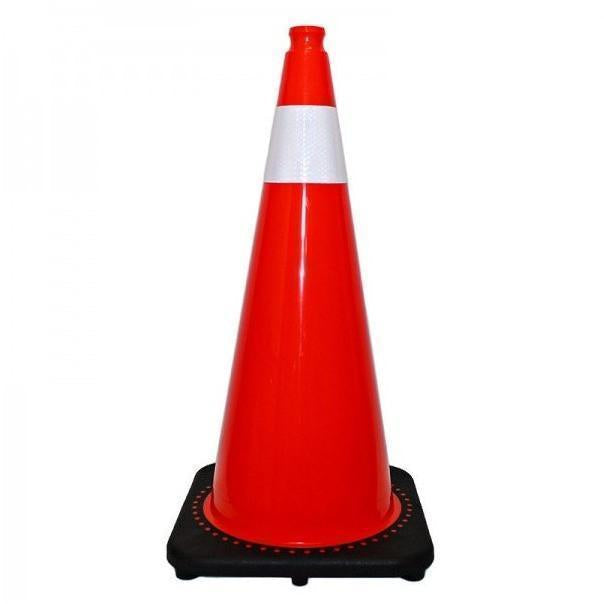 "Traffic Cone With 4"" Reflective Collar 28"""