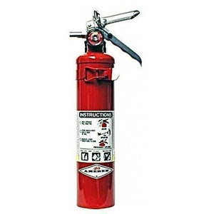 A Single Red Fire Extinguisher