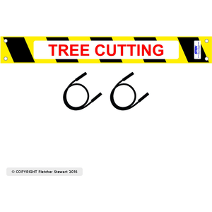 Tree Cutting  Sign Kit for  STEIN Modular Guarding System