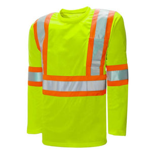 WASIP Traffic T-Shirt Long Sleeve 4in Reflective