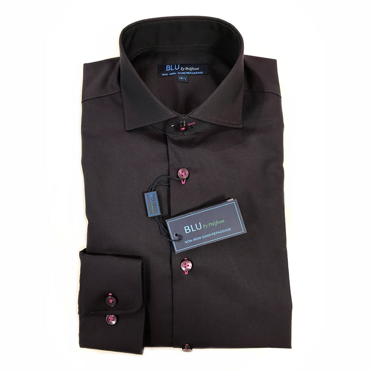 New Fall Colours of Polifroni BLU Slim Fit Non-Iron Dress Shirts Are Here!