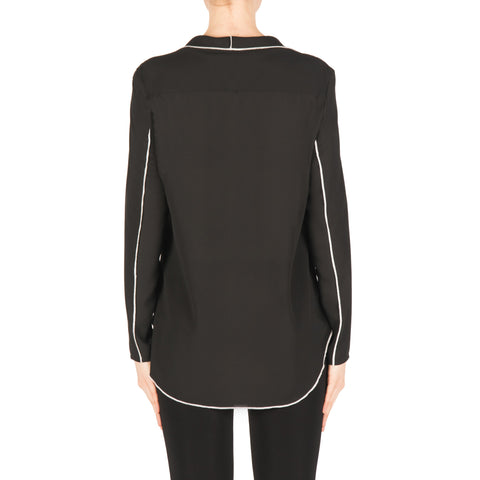 Image of Joseph Ribkoff Blouse Style 183123 Black Best Price On Sale