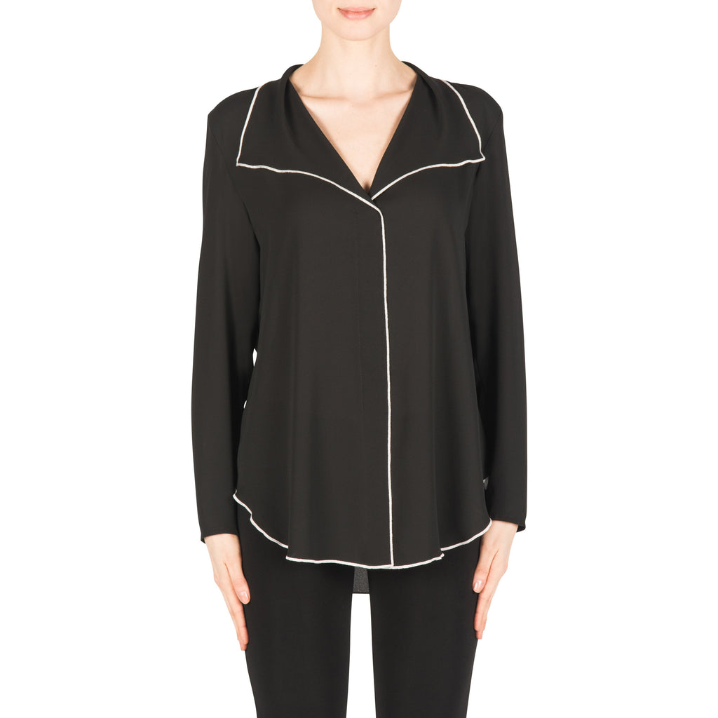 Joseph Ribkoff Blouse Style 183123 Black Best Price On Sale